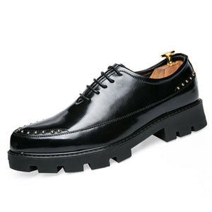 Prettymia Increase Wear Resistant Lace Up Men's Oxfords