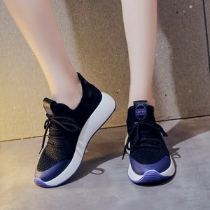 Prettymia Mesh Breathable Air Mesh Lace Up Sneakers