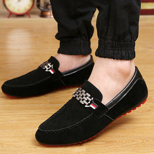 Prettymia Slip On Flat Men Casual Loafers