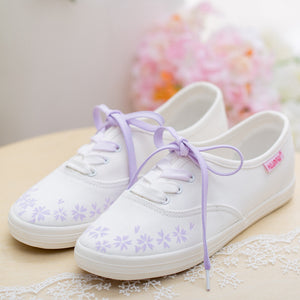 Prettymia Flat Lace Up Casual Canvas Shoes