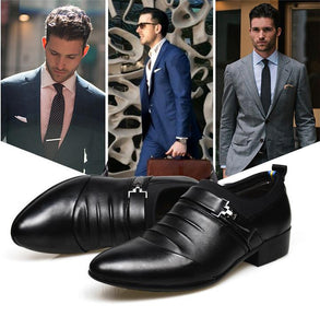 New Fashion Split Joint Slip On Men's Dress Shoes