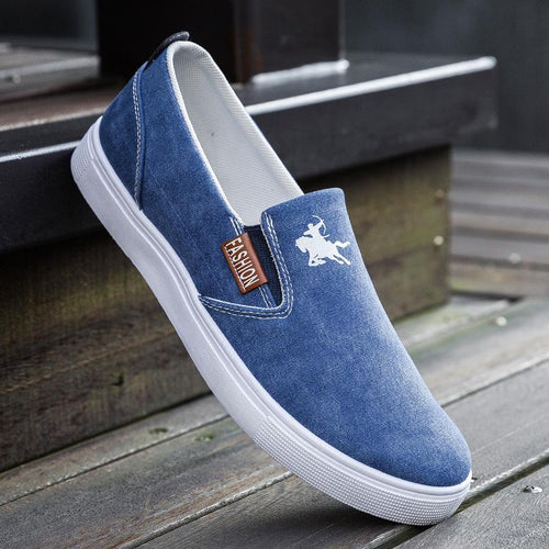 Hot Sale Breathable Slip On Men's Canvas Shoes