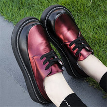 Prettymia Leather Stitching Big Head Women's Loafers