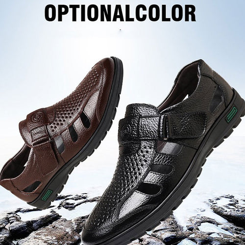 Prettymia Large-size Hollow-out Ventilated Outdoor Men's Sandals