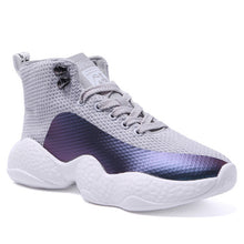 Prettymia Breathable Mesh Lace Up High Top Platform Sneakers