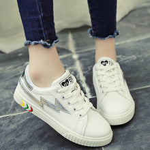 Prettymia Lace Up Round Toe Casual Sport Shoes
