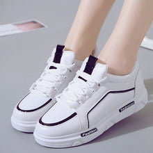 Prettymia Lace Up Platform Casual Sneakers