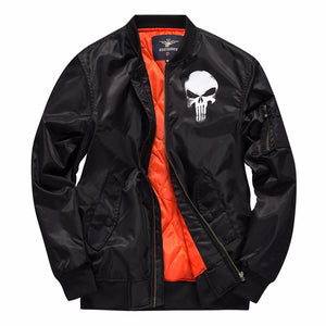Prettymia Skull Print Simple Jacket