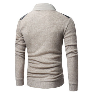 Prettymia Heap Collar Cotton Blends Button Men's Sweater