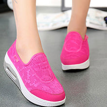 Prettymia Round Toe Slip On Mesh Casuals Shoes