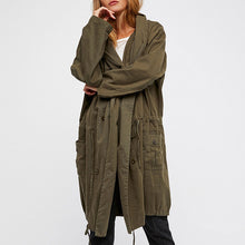 Prettymia Vintage Long Sleeve Plain Trench Coat