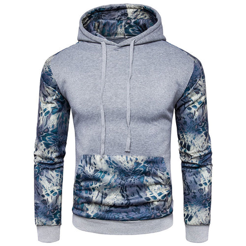 Prettymia England Hit Color Pattern Pullover Cotton Men's Hoodies