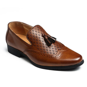 Solid Color Tassels Dress Shoes
