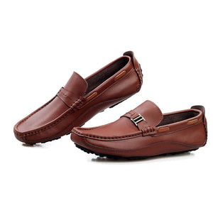 Prettymia Leather Breathable Wear Resistant Men's Loafers