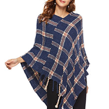 Prettymia Plaid Tassel Pullover Women's Sweater