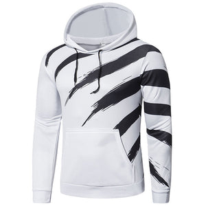 Prettymia Polyester Striped Loose Casual Men's Hoodies