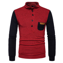 Prettymia Pullover Button Pocket High Collar Cotton Men's Sweater