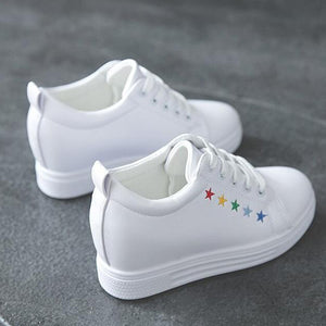 Prettymia Star Casual SRound Toe Lace up Women's  Sneakers