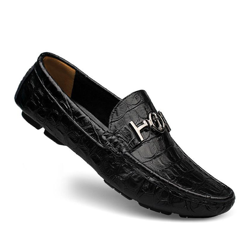 Plus Size Alligator Soft Leather Loafers