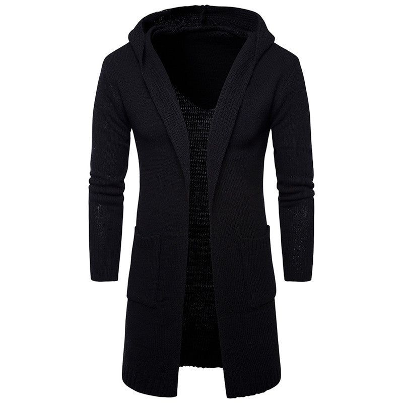 Prettymia Gradient Pocket Hooded Pullover Casual Simple Men's Coat