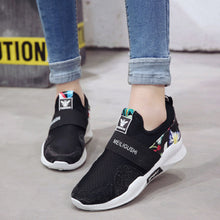 Prettymia Flower Round Toe Casual Sports Shoes
