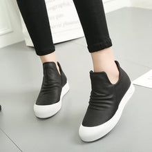 Prettymia High Top Round Toe Slip On Casuals