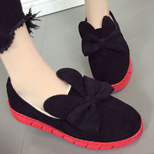 Prettymia Bowknot Round Toe Slip On Loafers