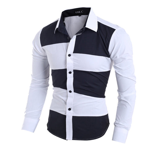 Prettymia Classical Irregular Colour Matching Men's Shirt