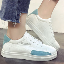 Prettymia Casual Round Toe Lace Up Flat Sneakers