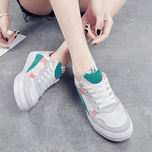 Prettymia Hollow Round Toe Lace Up Sneakers
