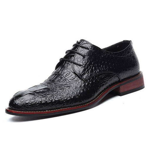 Prettymia Croco Lether Lace Up Men's Formal Shoes