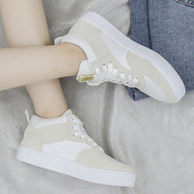 Prettymia Breathable Lace Up Round Toe Sneakers