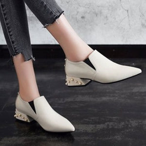 Prettymia Pointed Toe Slip On Low Heels