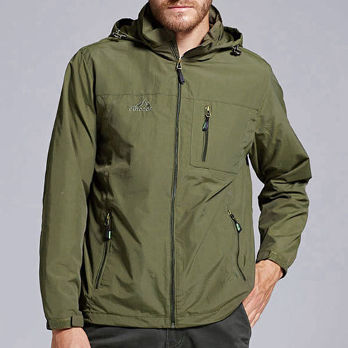 Prettymia Easy Exercise Hooded Quick Drying Men's Jacket