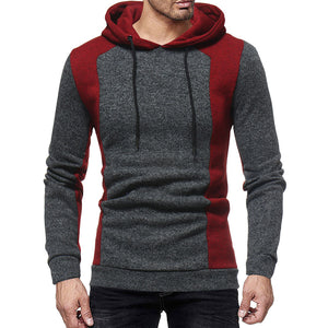 Prettymia Contrast Color Hooded Lace-Up Pullover Men's Hoodies