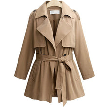 Prettymia Lace Up Long Sleeve Polyester Lapel Coat