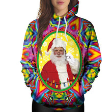 Prettymia Santa Claus Print Long Sleeve Hoodies