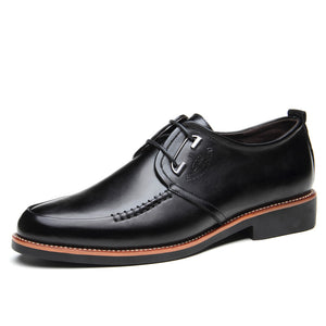 Prettymia Banquet Smooth Vintage Patent Leather Men's Oxfords