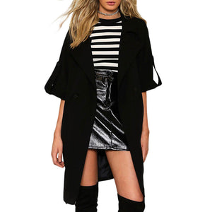 Prettymia Brief Double-Breasted England Polyester Trench Coat