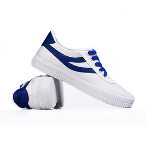 Fashion Lace Up Flat Canvas Shoes