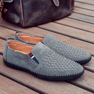 Prettymia Woven Breathable Flat European Men's Loafers