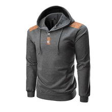 Prettymia Button Hooded Sweater Pure Color Paste Men's Outerwear