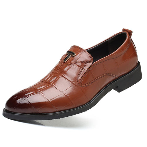 Prettymia Letter With Set Foot Business Men's Dress Shoes