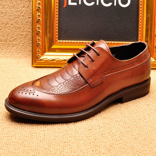Prettymia Bullock Print Wear Resistant Breathable Men's Oxfords