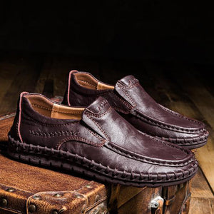 Prettymia Plus Size Leisure Brogues Leather Men's Loafers