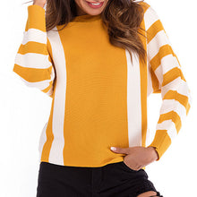 Prettymia Striped Mixed Color Batwing Sleeve Sweater