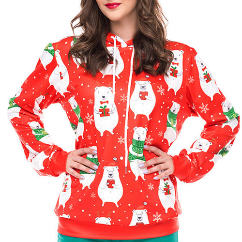 Prettymia Animal Snowflake Polka Dots Hoodies