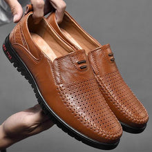 Prettymia Plus Size Genuine Leather Breathable Loafer Casual Shoes