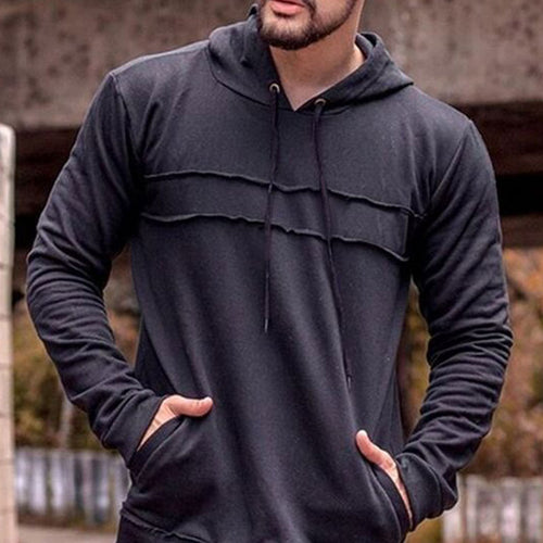 Prettymia Polyester Lace Up Casual Hooded Men's Hoodies
