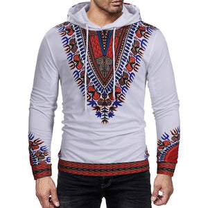 Prettymia Printing Cotton Blends Lace-Up Pullover Men's Hoodies
